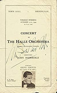 Sir John Barbirolli - Program Cover Signed Circa 1944
