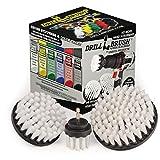 Drillbrush Nuevo Cambio rápido del Eje 3 Pack Blanco Suave de alfombras, tapicería, Cuero Y Cepillos de fregado cm024 Blanco