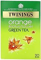 Twinings Green Tea Orange & Lotus Flower Flavour Tea Bags (20 per pack) トワイニング緑茶オレンジと蓮の花の香りのティーバッグ(パックあたり20 )