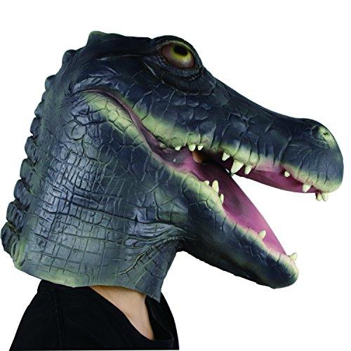 Waylike Krokodil-Maske, Halloween-Kostüm, Party, Tiermasken, Grün