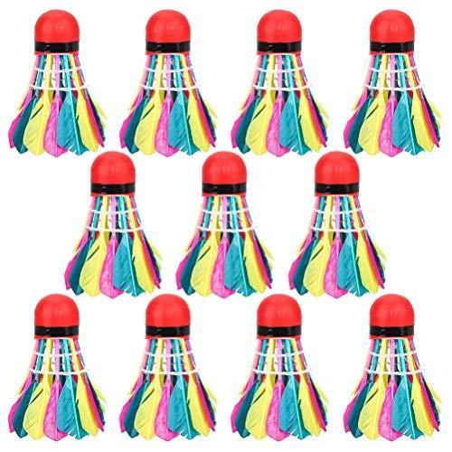 Nivni, volano arcobaleno, 11 pezzi di palline colorate ad alta velocità per badminton e allenamento palestra