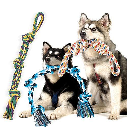 FONPOO Giochi per Cani Grandi di 3 Pezzi di Gioco Corda Cane per Cani Progettati per Cani di Resistenti Lunghi 30 Pollici Peso Totale 4 Libbre