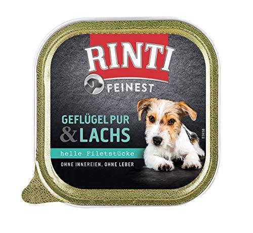 Rinti Feinest Geflügel & Lachs für Hunde, 11er Pack (11 x 150 g)