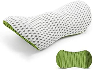 ZRH Cojín para automóvil en Forma de ala, Almohada de Apoyo Lumbar, Alivio del Dolor Lumbar, Espuma viscoelástica de Rebote Lento, diseño ergonómico Green