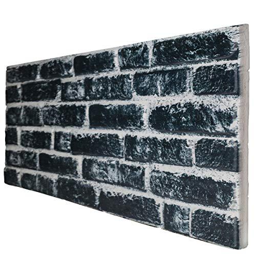 Black Carbon - Panel de imitación de ladrillo de EPS resinado, tamaño...