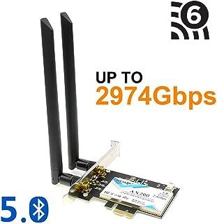 Mini PCI-E Express a PCI-E Adaptador inalambrico con 3 antena WiFi para PC R SODIAL