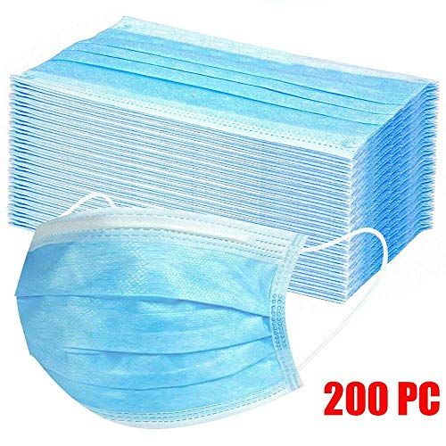 Damonday Protección 3 Capas Transpirables con Elástico para Los Oídos Pack 10/20/50/100/200 unidades Unisex 0709B (200 PCS)