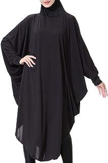 Women's Elegant Modest Muslim Islamic Ramadan Lightweight Hijab Long Scarf One-Piece Large Overhead Prayer Dress