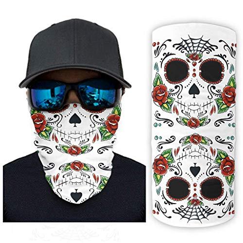 Sugar Skull Tattoo Pasamontañas Cuello Polaina Mascarilla Diadema mágica Bandana Casco que absorbe el sudor Forro