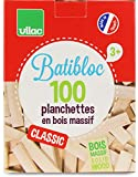 Vilac - 2135 - Jeu de Construction - Batibloc - Petit Bâtisseur Naturel - 100 Pièces - Hêtre Massif du Jura