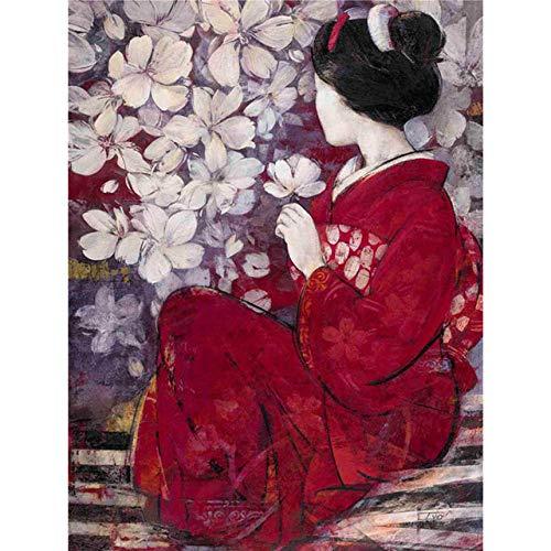GJYAC diamond painting Rompecabezas de Jigsaw Puzzles 1000 Piece ,Mujer Japonesa, para Adultos Niños Niños Juguetes educativos Regalos para la Familia