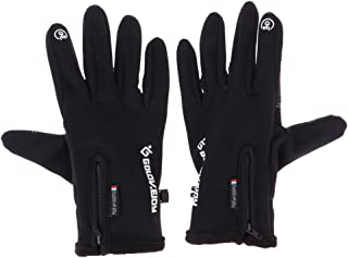 F Fityle Winter Adult Unisex Ski Snowboard Snow Gloves, Waterproof Windproof Riding Cycling Bike Touch Screen Thermal Warm Anti-Slipping Gloves