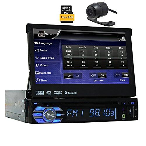 Eincar Audio BV9976B DIN Simple motorizado Pantalla t¨¢ctil de 7 Pulgadas Reproductor de DVD Desmontable del Receptor de Radio del Coche del Panel EST¨¦reo Bluetooth Remoto Inal¨¢mbrico de 8 GB de n