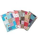 Martin Kench - Lote de telas de algodón por metros, 5 unidades de 46 cm x 56 cm cada una, tela para...