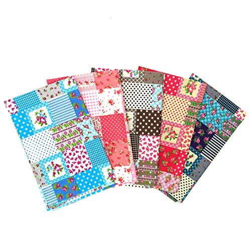 Martin Kench - Lote de telas de algodón por metros, 5 unidades de 46 cm x 56 cm cada una, tela para patchwork, para costura, para manualidades