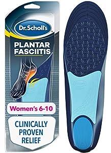 Dr. Scholl's Analgésico para la fascitis plantar para mujeres, 1 par, tamaño 6 – 10
