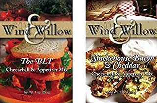 """Wind & Willow""""All American"""" Savory Cheeseball and Dip Mix Variety Pack (BLT/Smokehouse Bacon & Cheddar)"""