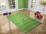 Oedim Alfombra Infantil Campo Fútbol para Habitaciones PVC | 95 x 165 cm | Moqueta PVC | Suelo vinílico | Decoración del Hogar | Suelo Sintasol | Suelo de Protección |