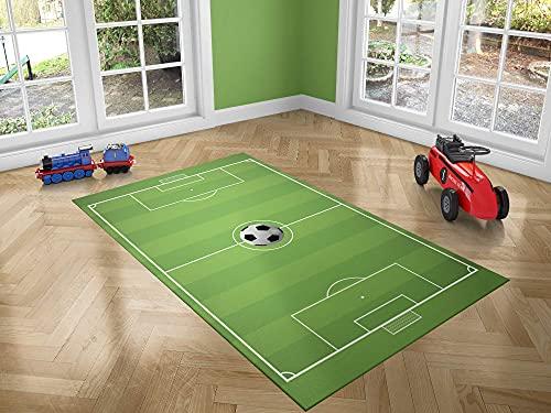 Oedim Alfombra Infantil Campo Fútbol para Habitaciones PVC   95 x 165 cm   Moqueta PVC   Suelo vinílico   Decoración del Hogar   Suelo Sintasol   Suelo de Protección  