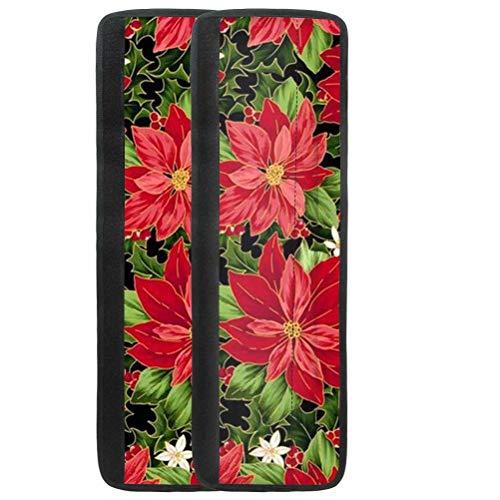 chaqlin Juego de 2 fundas para manijas de puerta de frigorífico, diseño floral, para cocina, nevera, microondas, lavavajillas, manilla de puerta, decoración de Navidad