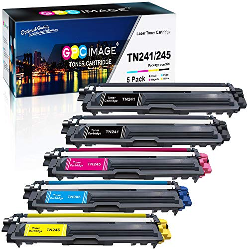 GPC Image 5 Pack Kompatibel Toner Patronen Ersatz für Brother TN-241 TN-245 TN-242 TN-246 für MFC-9332CDW DCP-9022CDW HL-3142CW MFC-9142CDN HL-3152CDW MFC-9140CDN 9342CDW DCP-9017CDW 9020CDW HL-3140CW