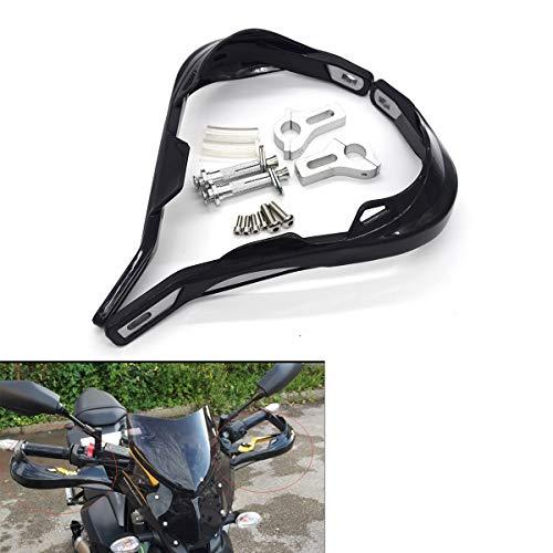 Protector de mano para moto, 7/8 pulgadas, 22 mm, protección para el manillar moto scooter resistente al viento equipo de protección para las manos, color negro