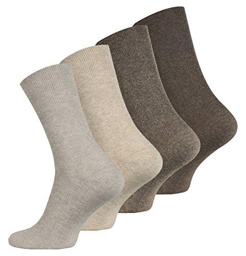 VCA 8 Paar original Herren Diabetiker Socken, Ohne Gummibund, Baumwolle, Spitze handgekettelt