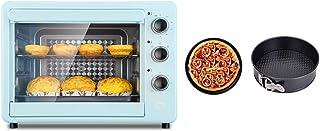 FUDIV Horno eléctrico Multifuncional Horno automático para el hogar Control de Temperatura Independiente de tuberías Superiores e Inferiores Capacidad de 32 litros 1500 vatios, Azul