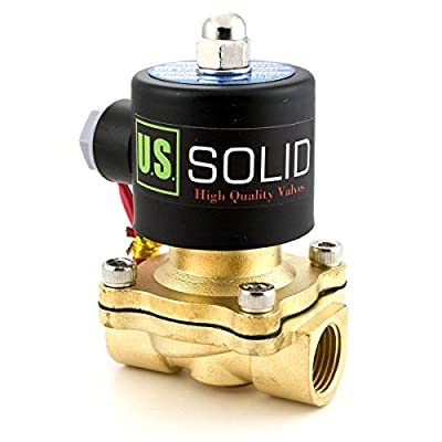 """1/2"""" Brass Electric Solenoid Valve110VAC VITON SEAL N.C. (Air, Gas, Fuel.) from U.S. SOLID"""