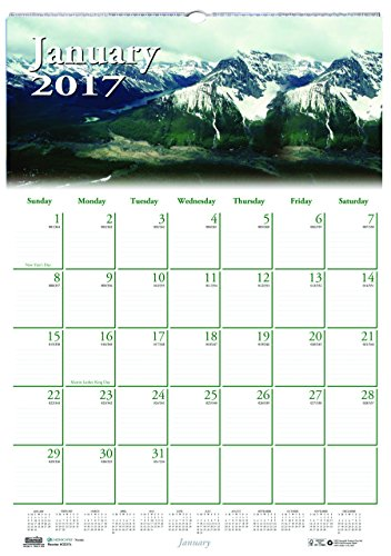 "House of Doolittle 2017 Monthly Wall Calendar, Earthscapes Scenic, 12 x 16.5"" (HOD378-17)"