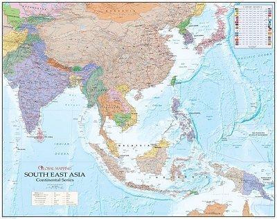 Südostasien Landkarte mit China