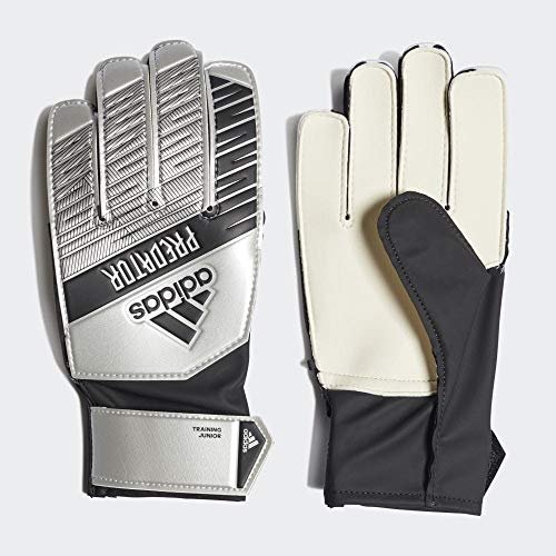 adidas Kinder PRED TRN J Soccer Gloves, Silver met./Black, 3