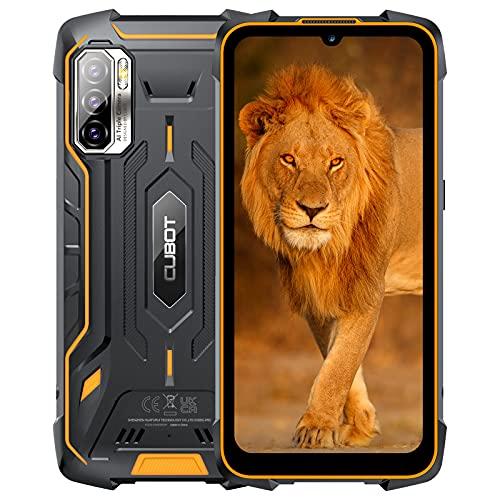 Móvil Resistente Agua y Golpes, CUBOT Smartphone 8000mAh 4GB+64GB 48MP+25MP Cámara, King Kong 5 Pro Antigolpes IP68/IP69K Android 11 Pantalla HD+ 6'' Dual SIM NFC OTG Procesador Octa-Core GPS