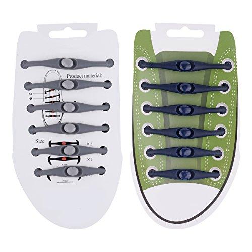 Weiye Lot de 24 lacets pour enfants et adultes - Silicon - Élastiques - Chaussures de course - Multicolore - Pour baskets - Chaussures de sport imperméables