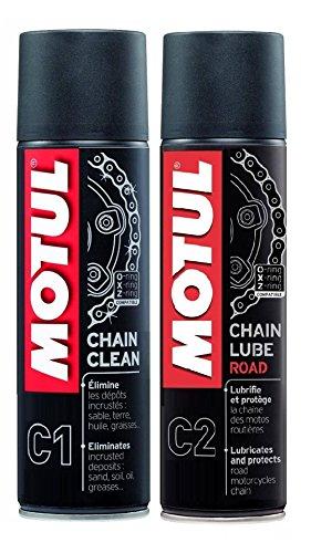 MotulMC, lubrifiant de chaîne (C2) et nettoyage de chaîne (C1)