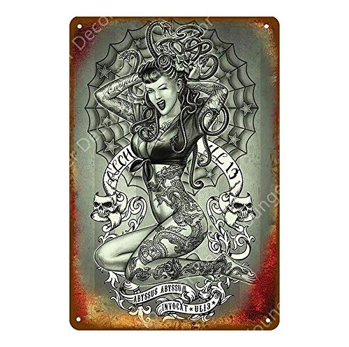 shovv Klassische Tattoo Shop Decor Sexy Pin Up Mädchen Marilyn Monroe Metallschild Zinn Poster Wandaufkleber Kunst Malerei Plaque Raumdekoration