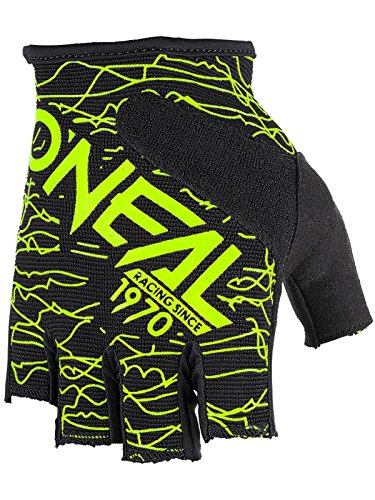O'Neal vingerloze Wired Neon Geel handschoenen fiets MTB DH BMX FR Enduro Mountain Bike, 0374-00, maat L