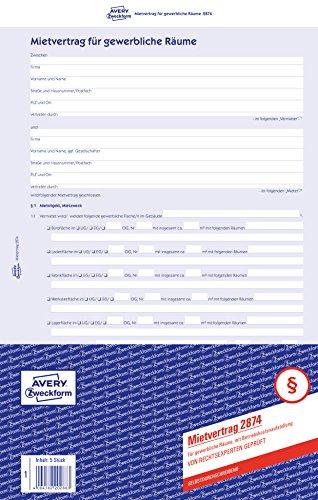 AVERY Zweckform AVERY Zweckform 2874 Mietvertrag  für Bild