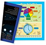 NewSpaceView Natural Learning Children's Placemat (1 Placemat : Seasons/Months/Week/Time and Solar System 5-in-1)