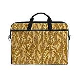 VICAFUCI Nuova Borsa per Laptop 15-15.4 Pollici Borsa del Portatile,Vita Rurale del Terreno coltivabile del Modello del Campo di Rye del Grano Rurale delle Orecchie del cereale