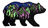 PatchClub Bear and Mountains Adventure Outdoor Patch - Colorful Embroidered Cool Iron On/Sew On Patches
