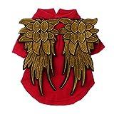 LOVIVER Mono de Disfraces de Perro Mascota de Invierno con Alas de ángel Hollaween - Rojo S