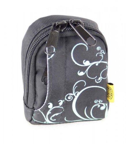 BILORA Fashion Bag - schwarz - Kameratasche - passend für Canon IXUS 145 160 165 170 175 180 185 190 275 HS 285 HS PowerShot SX620 HS - Sony CyberShot DSC WX220 WX350 W810 W830 - Nikon CoolPix A10 A100 A300