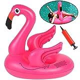 BESLIME Inflable Flamenco Anillo de natación de Flamenco Inflable, Piscina Los Adultos y Los Nios Pueden Jugar En La Playa con Pileta Disfrute Agradables Vacaciones(60 * 48 * 45cm)
