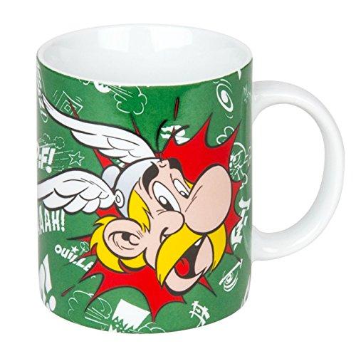 Könitz koffiemok Asterix & Obelix Asterix Paff in geschenkdoos beker, porselein, meerkleurig, 11,5 x 8,2 x 9,4 cm