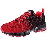 VVQI Laufschuhe Herren Damen Sneaker Sportschuhe Turnschuhe Mode Leichtgewichts Freizeit Atmungsaktive Fitness Schuhe 46 EU 005 3 Rot