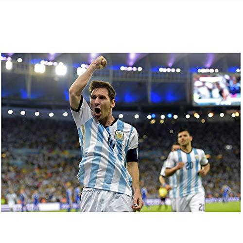 sjkkad Brillantes Tor von Argentinien Lionel Messi Wanddekor Poster für Raumdekoration Heimdekoration Geschenke für Eltern und Freunde -60x80cm No Frame erzielt