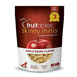 Fruitables Skinny Mini Dog Treats | Healthy Treats for Dogs | Low Calorie Training Treats | Free of Wheat, Corn and Soy | Apple Bacon | 5 Ounces