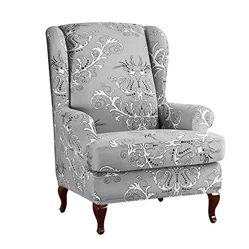 FORYOURS - Funda para sillón orejero, funda elástica para sillón orejero, funda elástica para la decoración de sillones