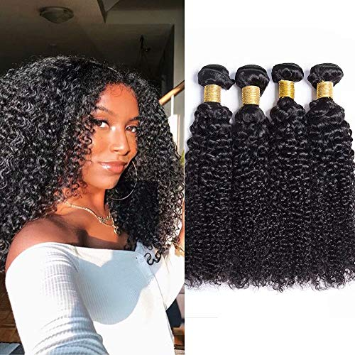 Maxine 9A 100% unprocessed Kinky Curly Wave Hair Extensions Weft Weave Natural Black Color 3 Bundles Virgin Remy Human Hair Same Length 100g/pcs(10 12
